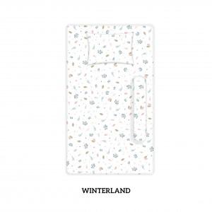WINTERLAND Cotbed Sheet