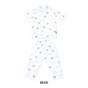 BEAR Printed Pajamas Short Sleeve Set