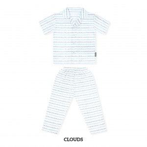 CLOUDS Printed Pajamas Short Sleeve Set