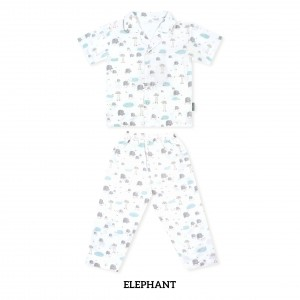 ELEPHANT Printed Pajamas Short Sleeve Set