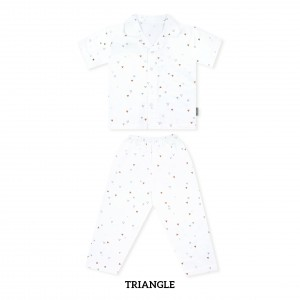 TRIANGLE Printed Pajamas Short Sleeve Set