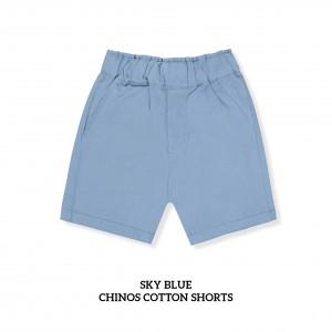SKY BLUE Chinos Cotton Short