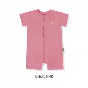 CORAL PINK Zippy Playsuit