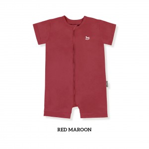 RED MAROON Zippy Playsuit