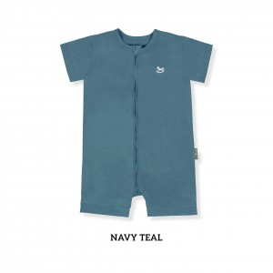 NAVY TEAL Zippy Playsuit