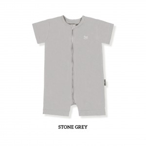 STONE GREY Zippy Playsuit