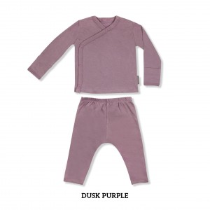 DUSK PURPLE Baby Kimono Long Sleeve Set