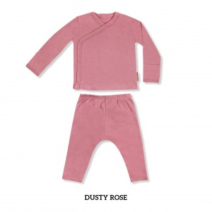 DUSTY ROSE Baby Kimono Long Sleeve Set