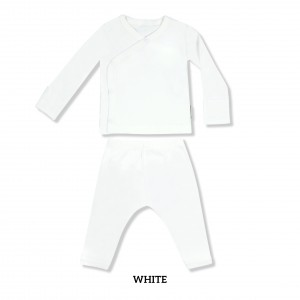 OFF WHITE Baby Kimono Long Sleeve Set