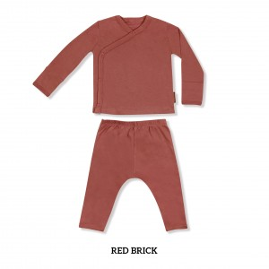 RED BRICK Baby Kimono Long Sleeve Set