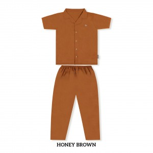 HONEY BROWN MOMS PJS SET