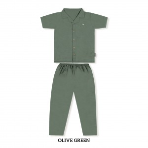 OLIVE GREEN MOMS PJS SET