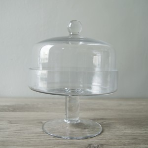 Glass Cake Dome with Leg