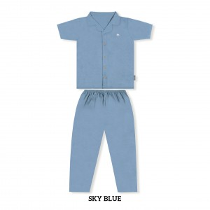 SKY BLUE MOMS PJS SET