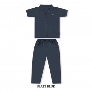 SLATE BLUE MOMS PJS SET