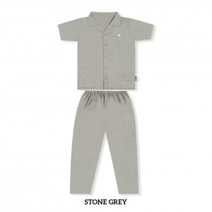 STONE GREY MOMS PJS SET