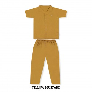 YELLOW MUSTARD MOMS PJS SET