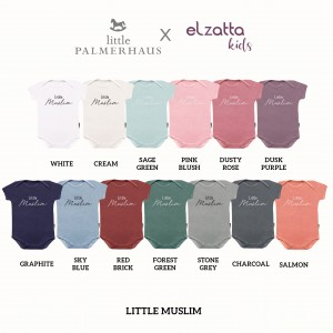 LITTLE MUSLIM EVERYDAY WEAR BODYSUIT SHORT SLEEVE ELZATTA