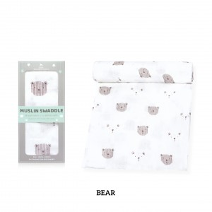 Bear Muslin Swaddle (1 pc)