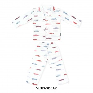 VINTAGE CAR Printed Pajamas Long Sleeve Set