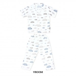 VROOM Printed Pajamas Short Sleeve Set