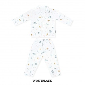 WINTERLAND Printed Pajamas Long Sleeve Set