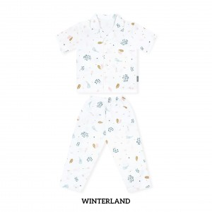 WINTERLAND Printed Pajamas Short Sleeve Set