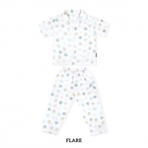 FLARE Printed Pajamas Short Sleeve Set