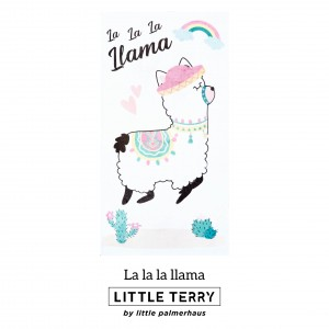 LA LA LA LLAMA LITTLE TERRY TOWEL