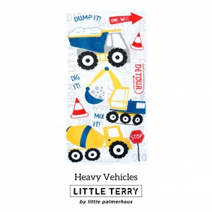 HEAVY VEHICLES LITTLE TERRY TOWEL