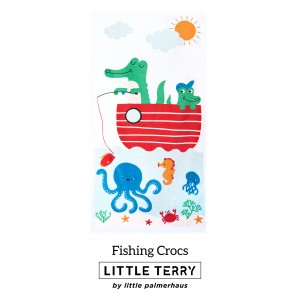 FISHING CROCS LITTLE TERRY TOWEL