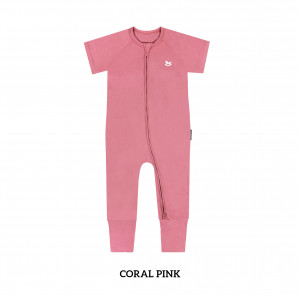 CORAL PINK Baby Sleep & Play Suit