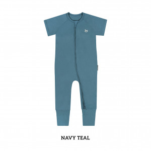 NAVY TEAL Baby Sleep & Play Suit