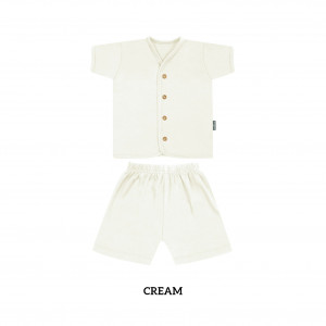 CREAM Button Tee Short Sleeve