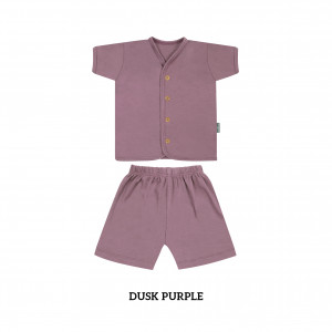 DUSK PURPLE Button Tee Short Sleeve