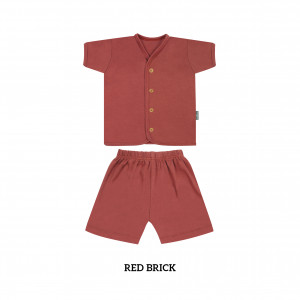 RED BRICK Button Tee Short Sleeve
