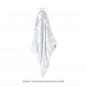 BUNNY AND BEARS HOODIE BLANKIE