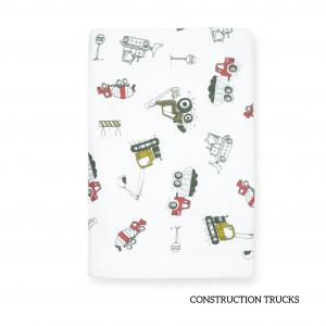 Construction Trucks Tottori Baby Towel