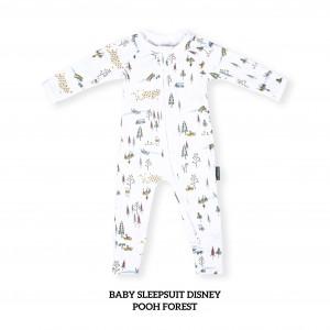 POOH FOREST Baby Sleepsuit Disney