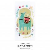 LLAMA LOVE LITTLE TERRY TOWEL