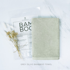 Grey Olive Bam & Boo Towel