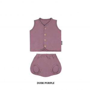 DUSK PURPLE Button Tee Sleeveless