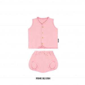 PINK BLUSH Button Tee Sleeveless