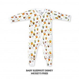 Mickey's Fries Baby Sleepsuit Disney