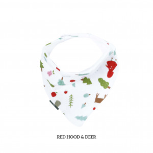 Red Hood And Deer Bandana Bib
