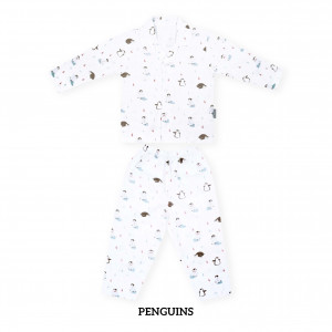 PENGUIN Printed Pajamas Long Sleeve Set