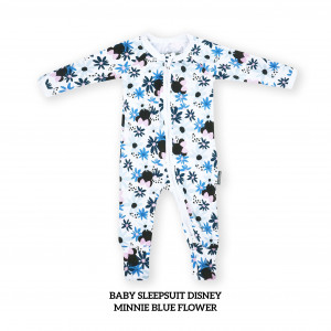 MINNIE BLUE Baby Sleepsuit Disney