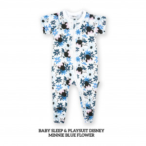 MINNIE BLUE FLOWER Baby Sleep & Play Suit