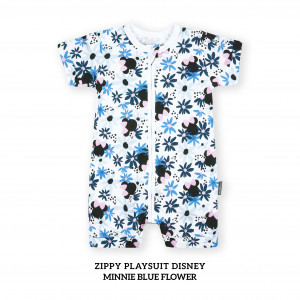 MINNIE BLUE FLOWER Zippy Playsuit Disney