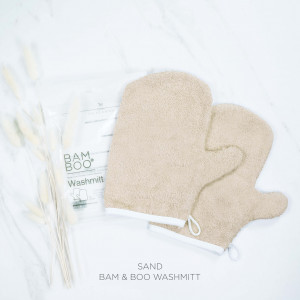 Bam & Boo Bamboo Washmitt Set Of 2 Sand